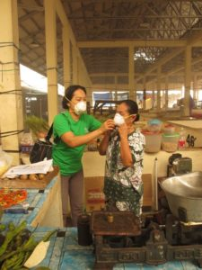 During the massive forest fires in Kalimantan, YUM distributed haze masks and oxygen