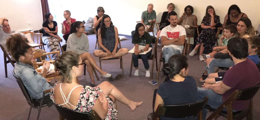 Young voices speaking together on their role and vision for Susila Dharma. Emma Gonzales led this wide-ranging roundtable discussion.